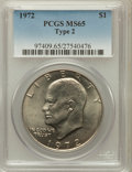 Eisenhower Dollars, 1972 $1 Type Two MS65 PCGS. PCGS Population (56/5). Numismedia Wsl.Price for problem free NGC/PCGS coi...