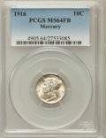 Mercury Dimes: , 1916 10C MS64 Full Bands PCGS. PCGS Population (1267/1352). NGCCensus: (623/1058). Mintage: 22,180,080. Numismedia Wsl. Pr...