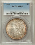 Morgan Dollars: , 1899 $1 MS62 PCGS. PCGS Population (1327/8597). NGC Census:(1100/6098). Mintage: 330,846. Numismedia Wsl. Price for proble...
