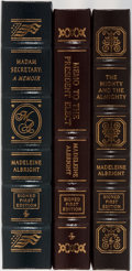 Books:Biography & Memoir, Madeleine Albright. Group of Three LIMITED/SIGNED First EditionBooks Published by Easton Press. Each volume is numbered. Pu...(Total: 3 Items)