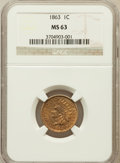 Indian Cents: , 1863 1C MS63 NGC. NGC Census: (482/842). PCGS Population(774/1058). Mintage: 49,840,000. Numismedia Wsl. Price forproblem...