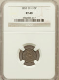 Seated Half Dimes: , 1852-O H10C XF40 NGC. NGC Census: (5/38). PCGS Population (4/43).Mintage: 260,000. Numismedia Wsl. Price for problem free ...