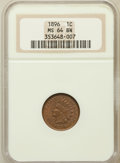Indian Cents: , 1896 1C MS64 Brown NGC. NGC Census: (60/35). PCGS Population(35/9). Mintage: 39,057,292. Numismedia Wsl. Price for problem...