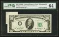 Error Notes:Foldovers, Fr. 2012-I $10 1950B Federal Reserve Note. PMG Choice Uncirculated64.. ...