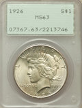 Peace Dollars, 1922-S $1 MS63 PCGS; 1924 MS64 PCGS; (2)1926 MS63 PCGS; 1935 MS63PCGS.... (Total: 5 coins)