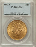 Liberty Double Eagles: , 1883-S $20 MS61 PCGS. PCGS Population (476/902). NGC Census:(708/496). Mintage: 1,189,000. Numismedia Wsl. Price for probl...