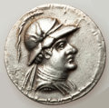 Ancients:Greek, Ancients: GRECO-BACTRIAN KINGDOM. Eucratides I the Great (ca.170-145 BC). AR tetradrachm (16.80 gm). ...