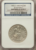 Seated Half Dollars, 1855-O 50C Arrows, SS Republic -- Shipwreck Effect -- NGC. Mintage:3,688,000....