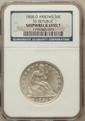 Seated Half Dollars, 1854-O 50C Arrows, SS Republic -- Shipwreck Effect -- NGC. Mintage:5,240,000....