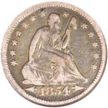 Seated Quarters, 1854-O 25C Huge O VF20 NGC. Briggs 1-A, FS-501....