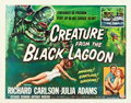 "Movie Posters:Horror, Creature from the Black Lagoon (Universal International, 1954). Half Sheet (22"" X 28"") Style A.. ..."