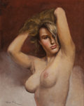 Pin-up and Glamour Art, FRIED PAL (American, 1893-1976). Sandy. Oil on canvas. 30 x24 in.. Signed lower left. ...