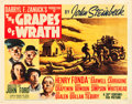 "Movie Posters:Drama, The Grapes of Wrath (20th Century Fox, 1940). Half Sheet (22"" X28"") Style A.. ..."