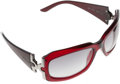 Luxury Accessories:Accessories, Bulgari Red Acetate Sunglasses with Silver Accents . ...