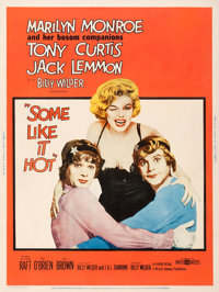 "Some Like It Hot (United Artists, 1959). Poster (30"" X 40"") Style Y"