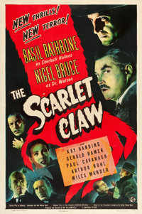 """The Scarlet Claw (Universal, 1944). One Sheet (27"""" X 41"""")"""