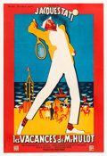 "Movie Posters:Comedy, Mr. Hulot's Holiday (Disci Film, 1953). French Affiche (23"" X31.25"") Rene Peron Artwork.. ..."