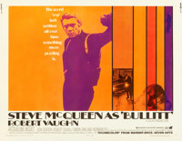 "Bullitt (Warner Brothers, 1968). Half Sheet (22"" X 28"")"