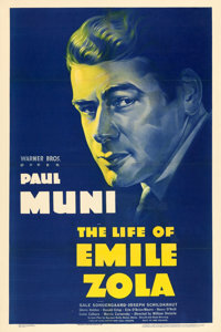 "The Life of Emile Zola (Warner Brothers, 1937). One Sheet (27"" X 41"")"