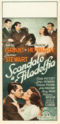 "Movie Posters:Comedy, The Philadelphia Story (MGM, 1940). First Post-War Release Italian Locandina (13"" X 27"").. ..."