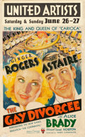 "Movie Posters:Musical, The Gay Divorcee (RKO, 1934). Window Card (14"" X 22"").. ..."