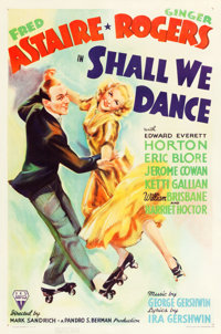 "Shall We Dance (RKO, 1937). One Sheet (27"" X 41"")"