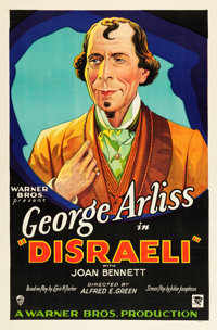 "Disraeli (Warner Brothers, 1929). One Sheet (27"" X 41"") Style A"