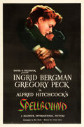 """Movie Posters:Hitchcock, Spellbound (United Artists, 1945). One Sheet (27"""" X 41"""").. ..."""