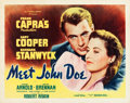 """Movie Posters:Drama, Meet John Doe (Goodwill Pictures, R-Mid 1940s). Half Sheet (22"""" X28"""") Style B.. ..."""
