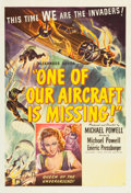 "Movie Posters:War, One of Our Aircraft Is Missing (United Artists, 1942). One Sheet(27"" X 41"").. ..."
