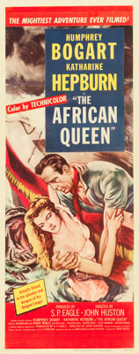 """The African Queen (United Artists, 1952). Insert (14"""" X 36"""")"""