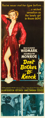 """Don't Bother to Knock (20th Century Fox, 1952). Insert (14"""" X 36"""")"""