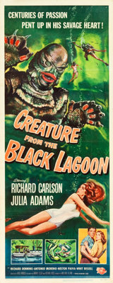 "Creature from the Black Lagoon (Universal International, 1954). Insert (14"" X 36"")"