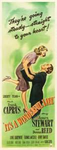 "Movie Posters:Fantasy, It's a Wonderful Life (RKO, 1946). Insert (14"" X 36"").. ..."