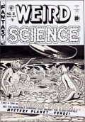 Original Comic Art:Covers, Al Feldstein Weird Science #6 Cover Original Art (EC, 1951)....