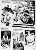 Original Comic Art:Panel Pages, Jose Ortiz Vampirella #35 Story Page 12 Original Art(Warren, 1974)....