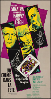 "The Manchurian Candidate (United Artists, 1962). French Petite (15.5"" X 31""). Thriller"
