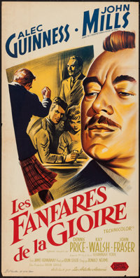 "Tunes of Glory (United Artists, 1960). French Petite (15.75"" X 31.5""). Drama"