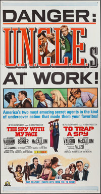 """To Trap a Spy/The Spy With My Face Combo (MGM, 1966). Three Sheet (41"""" X 79""""). Action"""