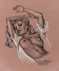 RAY COIA (American, 20th Century) Ruth, 2005 Charcoal on paper 18 x 15 in. Signed lower right<