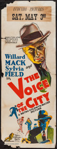 "Movie Posters:Crime, The Voice of the City (MGM, 1929). Pre-War Australian Daybill (15""X 40""). Crime.. ..."
