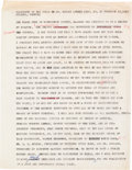 Autographs:Celebrities, Martin Luther King, Jr., Typed Press Statement with Edits IncludingOne in his Hand....