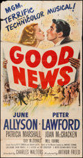 "Movie Posters:Musical, Good News (MGM, 1947). Three Sheet (41"" X 79""). Musical.. ..."