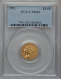 Indian Quarter Eagles: , 1910 $2 1/2 MS62 PCGS. PCGS Population (1011/1193). NGC Census:(2752/2319). Mintage: 492,000. Numismedia Wsl. Price for pr...