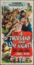 "Movie Posters:Adventure, A Thousand and One Nights (Columbia, 1945). Three Sheet (41"" X80""). Adventure.. ..."