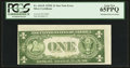 Error Notes:Skewed Reverse Printing, Fr. 1614* $1 1935E Silver Certificate. PCGS Gem New 65PPQ.. ...