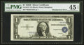 Error Notes:Shifted Third Printing, Fr. 1614* $1 1935E Silver Certificate. PMG Choice Extremely Fine 45 EPQ.. ...
