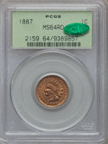 Indian Cents: , 1887 1C MS64 Red PCGS. CAC. PCGS Population (89/75). NGC Census:(35/26). Mintage: 45,226,484. Numismedia Wsl. Price for pr...