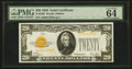 Small Size:Gold Certificates, Fr. 2402 $20 1928 Gold Certificate. PMG Choice Uncirculated 64 EPQ.. ...