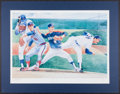 Baseball Collectibles:Others, Nolan Ryan Signed Oversized Lithograph....
